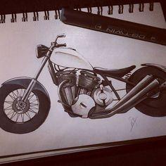 Vintage bobber/chopper #design4ndmore  #sketch #sketchbook #drawing #draw #instamoto #instadraw #instaday #moto #motolife #chopper #bobber  #vintage #vtwin #bicylindre #bikersofinstagram Bobber Chopper, Biker, Sketch, Photo And Video, Drawings, Vintage, Instagram, Sketch Drawing, Sketches