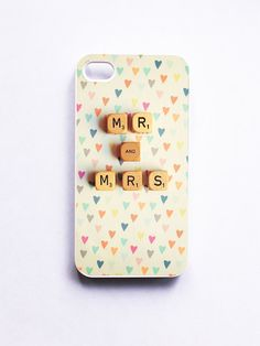 """Mr. & Mrs."" Iphone Case-why do I keep pinning iPhone cases...I don't even own one"