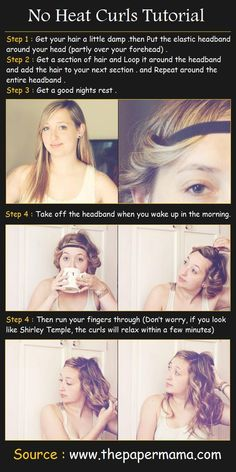 No Heat Curls Hair Tutorial