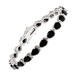 Amazon.com: STERLING SILVER BLACK C.Z BRACELET: Jewelry