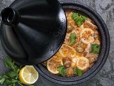 Tajine di pollo con olive e limoni in salamoia (Marocco) - Ricetta