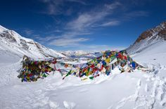 A breathtaking view of Thorong La Pass, a mainstay of the Annapurna Circuit