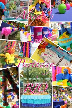 Just Imagine It S's Birthday / Rio the Movie / Tropical Fiesta - Photo Gallery at Catch My Party Rio Birthday Parties, Birthday Fun, Birthday Ideas, Rio Party, Party Time, Sweet Sixteen Decorations, Tropical Party, Childrens Party, Party Ideas