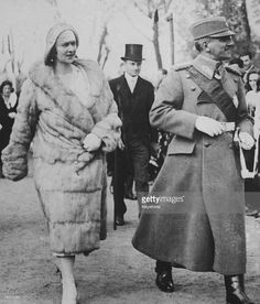 King Alexander I and Queen Marie of Yugoslavia attend the unveiling of a sculpture on Armistice Day in Belgrade, created as a tribute to France by sculptor Ivan Rostrovitsch, November Get premium, high resolution news photos at Getty Images Ww1 Pictures, King Alexander, Armistice Day, Royal King, Old Portraits, Princess Alexandra, Casa Real, Princess Victoria, Queen Letizia