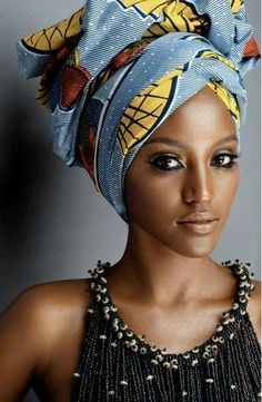 Head Wraps are worn by both African and African American women. Head wraps will forever be in fashion and look sexy on any woman. Afro Nature, African Beauty, African Fashion, African Style, Beautiful African Women, African Girl, African Design, Most Beautiful Women, Simply Beautiful