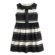 Girls' stripe bow-placket dress - Kinda Dressy - Girl's dresses - J.Crew