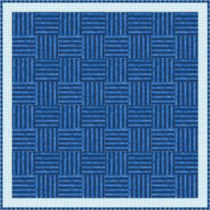 The Mock Basket Weave quilt looks like a true weave when you use two striped fabrics to assemble it.