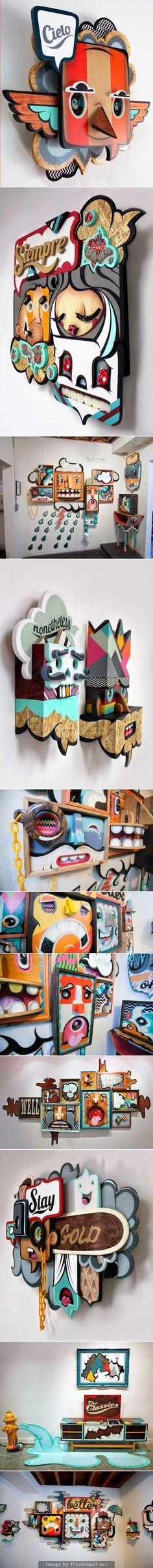Graffiti 3D de Alex Yanes Visto en: http://www.nometoqueslashelveticas.com/2014/05/graffiti-3d-de-alex-yanes.html