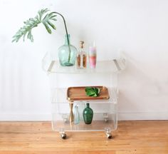 Lucite Lux® Bar Cart. Ahead of the curve.
