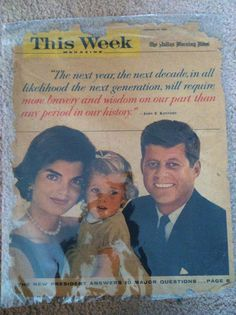 Kennedy family magazine cover 60s on Etsy, $3.00
