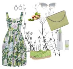 """Pistachio Green & Grey"" by boutiquebrowser ❤ liked on Polyvore featuring Alor, Giambattista Valli, Halston Heritage and Vidorreta"
