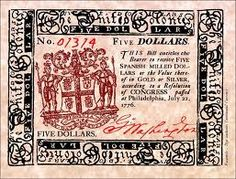 "In the century leading up to the American Revolution, gold and silver were so scarce in America that the colonies printed their own money called ""colonial scrip."""