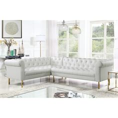 Shop a great selection of Chic Home Julian Left Facing Sectional Sofa PU Leather Upholstered Cream. Find new offer and Similar products for Chic Home Julian Left Facing Sectional Sofa PU Leather Upholstered Cream. Corner Sectional, Sectional Sofa, Living Room Furniture, Home Furniture, Modern Furniture, Living Rooms, L Shaped Sofa, Leather Sectional, Modern Rustic Interiors