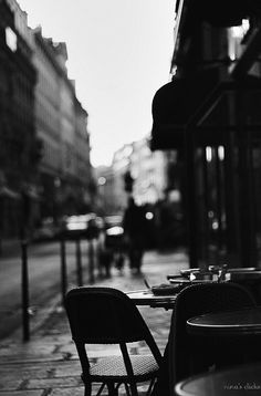 ☾ Midnight Dreams ☽ dreamy dramatic black and white photography - cafe