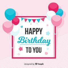 Flat birthday background Free Vector | Free Vector #Freepik #freevector #background #frame #birthday #floral Birthday Background, Birthday Messages, Backgrounds Free, Vector Free, Happy Birthday, Frame, Floral, Boyfriend, Birthday Msgs