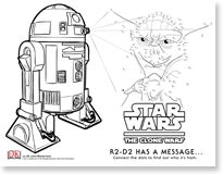 Star Wars coloring pictures and activity sheets