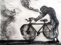 La Jornada Francisco Toledo, Mono con bicicleta (2005)