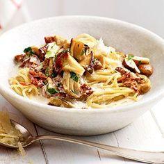 Spaghetti mit Pilzsugo Rezept | Küchengötter