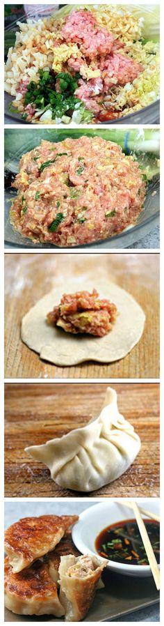 Homemade Dumplings and Potstickers -- Easy, fun and delicious! #homemade #dumplings #howto