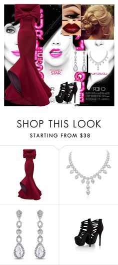 """Bound To You - Christina Aguilera"" by chloe-keelana ❤ liked on Polyvore featuring Monique Lhuillier, Miadora and Missguided"
