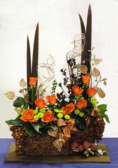 christmas floral arrangements ideas | ... demonstration to Broomsgrove & District Flower Arranging Society