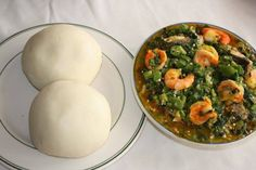 Nigerian Foods And Recipes: Poundo Yam And Delicious Okro Soup http://www.nigerianfoodies.com/2016/05/poundo-yam-and-delicious-okro-soup.html