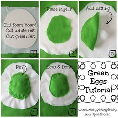 Green Eggs Tutorial for Dr. Seuss Sam I Am Green Eggs and Ham Costume collage Dr Seuss Diy Costumes, Best Kids Costumes, Book Costumes, Book Character Costumes, Book Week Costume, Costume Ideas, Dr. Seuss, Dr Seuss Week, Dr Seuss Shirts