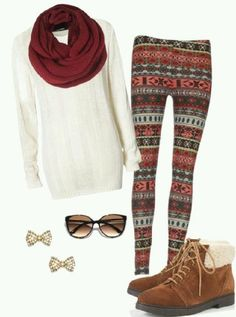 Cute outfit with pattern leggings