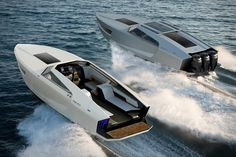 Like the closed-design GT before it, the Flying Flipper Superfly GTO 42 Boat was penned by Red Yacht Design, borrowing elements from sports cars to. Yacht Design, Boat Design, Ferrari, Speed Boats, Power Boats, Jet Ski, Ski Nautique, Family Boats, Electric Boat