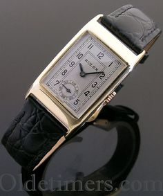 rectangular vintage Rolex watch, 20 x 37 mm (including lugs) signed Rolex, 25 Worlds Records, Geneve-Suisse, R. Iwc Watches, Rolex Watches For Men, Luxury Watches, Cool Watches, Vintage Rolex, Vintage Omega, Vintage Watches, Elegant Watches, Beautiful Watches