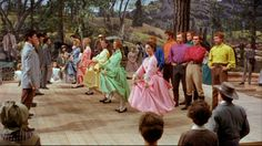 Howard Keel and Jane Powell in Seven Brides For Seven Brothers - 1954 (this is my favourite part of the whole movie, the dance! West Side Story, Old Movies, Great Movies, Awesome Movies, Vintage Movies, Movies Showing, Movies And Tv Shows, Howard Keel, Brothers Movie