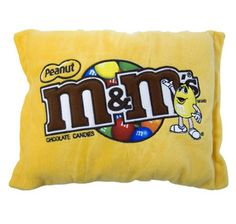Large M&M's ® Peanut Plush Pillow are really adorable! Imagine the look on a candy lovers face when they receive this beautiful, oversized, pillow representing the Peanut Variety of one of America's most beloved candy brands! Each pillow