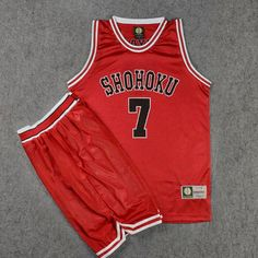 >> Click to Buy << SLAM DUNK Cosplay Costume Shohoku Number 7 Ryouta Miyagi Sleeveless Basketball Jersey Sets Tops + Shorts Sports Wear Plus Size #Affiliate