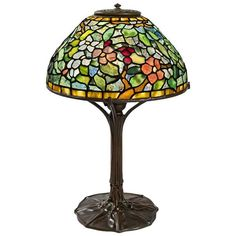 "Tiffany Studios ""Apple Blossom"" Table Lamp 