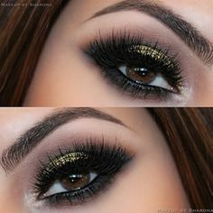 #eyeshadow #makeup #liner #popular #newest #latest #2014 #gold