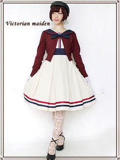 Victorian maiden | French Marine Ribbon Line Dress