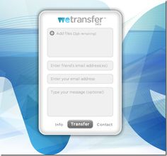 WeTransfer:  free service to send big or small files from A to B