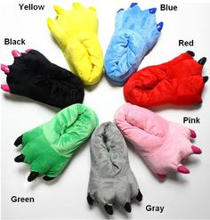 Animal Paw Soft Plush Claws Slipper Slippers Paws by RnMoMo, $9.99