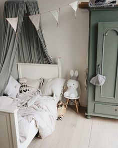 Grey & Green: A stylish colour combo for boys or girls - Pet.-Grey & Green: A stylish colour combo for boys or girls – Petit & Small Grey & Green: A stylish colour combo for boys or girls- Petit & Small - Baby Bedroom, Baby Room Decor, Girls Bedroom, Girl Rooms, Bedroom Decor, Kids Room Design, Kid Spaces, Small Spaces, Color Combos