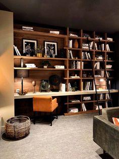 Home library design. Home library design Bureau Design, Home, Home Office Design, Home Office Decor, Sofa Design, Home Library Design, House Interior, Living Room Sofa Design, Home Deco