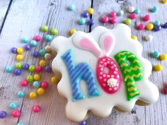 Bunny ears Easter hop cookie