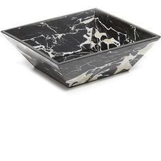 Carla Carstens Noir Marble Acrylic Catchall Dish ($65) ❤ liked on Polyvore featuring home, home decor and small item storage