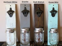 This listing is for a wall mounted bottle opener. The rustic bottle opener looks great in any entertainment space and makes for a great gift. It is