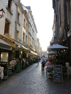Tours, France the most pure form of French spoken here. My favorite lunch spot - La Crêperie