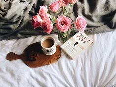 roses, hot tea or coffee, depending on how I feel...paired with a great book = yes please.