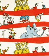 Licensed Fleece Fabric-Dr. Seuss Stripes