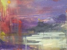 Dismal Landscape Abstract Oil Canvas on Etsy, $650.00
