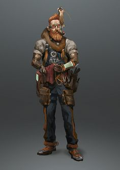 ArtStation - NWO - Character and props Design, TEO YONG JIN Game Character Design, Fantasy Character Design, Character Concept, Character Inspiration, Character Art, Concept Art, Dungeons And Dragons Characters, Sci Fi Characters, Steampunk Characters