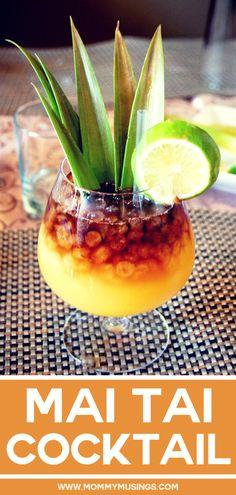 Mai Tai Cocktail - How to Make the Best Mai Tai recipe from Hawaii. The Na Ka Oi Mai Tai recipe is courtesy of the Westin Maui. Cocktail Mai Tai, Strawberry Banana Milkshake, Mixed Drinks Alcohol, Slimming Recipes, Champagne Cocktail, Cocktail Drinks, Exotic Food, Summer Cocktails, Drink Recipes