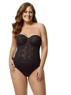 Panache Cream Preformed Special Occasions Strapless Body With Suspenders